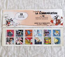 FRANCE La Communication 1988 Bandes Dessinées 12 x 2.20 francs Booklet pane