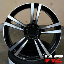 "22"" Machined Black Wheels Fits Porsche Cayenne S Turbo GTS VW Touareg Audi Q7"