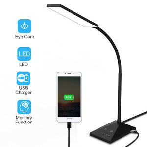 LED Table Lamp 5Modes Bedside Desk Lamp 7 Kind Brightness Reading Dimmable Light