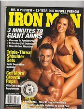 IronMan Body fitness muscle magazine/Dan Decker+Angela Taylor 10-10