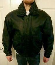 Vintage Leather - Bomber Jacket - Black - Large *FREE UK P&P*