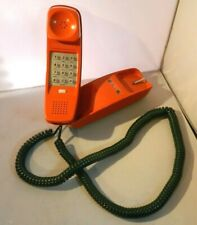 Western Electric Bell Systems TRIMLINE Phone Burnt Orange Push Button Retro Vtg