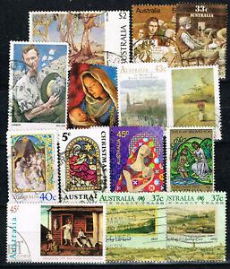 Australia Art Famous Paintings stamps lot 1980s
