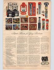 1955 PAPER AD Toy Tru Vue Viewer View Master Gene Autry Space Ranger Flashlight
