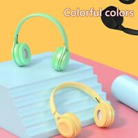 UK_ Y08 Macaron Wireless Bluetooth HiFi Stereo Over Ear Headphone Headset with M