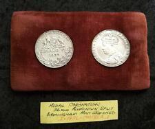 VERY SCARCE 1937 CORONATION KING EDWARD VIII 36mm SPLIT ALUMINIUM MEDAL