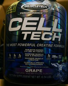 MuscleTech Cell-Tech The Most Powerful Creatine Formula 6.04lbs Grape Flavor