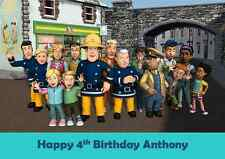 Personalised A4 Fireman Sam Edible Wafer Cake Topper