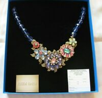 HEIDI DAUS GLORIOUS GARDEN BLUE FLOWER CRYSTAL NECKLACE NEW IN BOX ROMANCE CARD