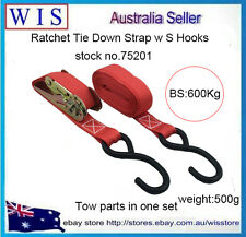 25mmx4.5m Ratchet Tie Down Strap,Breaking Strength 600kg w S Hooks75201