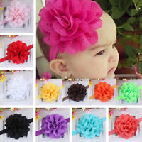 KM_ KF_ AU_ Baby Girls Kids Hollow Lace Flower Headband Headwear Hair Band Acc
