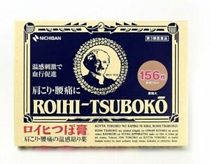 Nichiban ROIHI TSUBOKO 156 Medicated Pain Relieving Patches Japan + Tracking