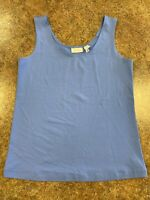 Chico's Women's Blue Sleeveless stretch summer casual tank size 0