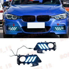 For BMW 3 Series F30/F35 2013-2019 White+Yellow+Blue LED Daytime Running Light