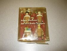 Boston Warehouse North Pole Pals Christmas Bottle Stoppers Set Of 4