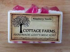 RASPBERRY VANILLA--Cottage Farms Goat's Milk Soap Handmade 6 oz. Bar