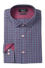 Original Penguin Heritage Slim Fit Medium Pink Plaid Dress Shirt Size 16 1/2 $79