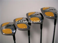 New Square Fairway Wood Set 3 5 7 9 Mens Right Hand Steel Shaft Yellow Golf Club