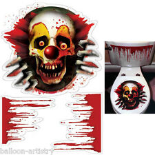 Halloween Terror CREEPY CARNIVAL CLOWN Toilet Topper Decoration