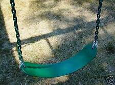 Swingset swing,play set,chained belt swing seat,playground accessory,kit,pvc,Grn
