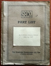 More details for standard engineering outsole stitching machine no. 789mo vintage part list no 8