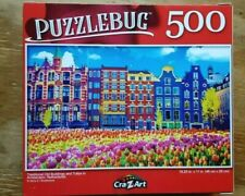 500 PIECE PUZZLEBUG JIGSAW PUZZLE - OLD AMSTERDAM BUILDINGS (brand new/sealed)!