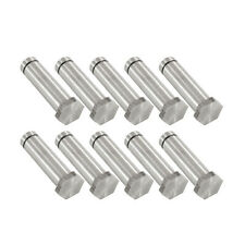 "Set of 10 Tattoo Machine Coil Cores 1 1/4"" Hex Top Polished 5/16"" Steel Parts"