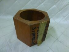 Wood Foundry Casting Mold Pattern Large Hex Nut Bolt Steampunk Industrial Art