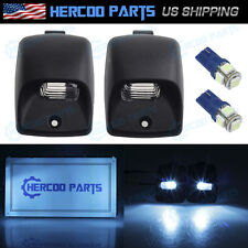 Pair Rear License Plate Light Lens Ice Blue T10 194 LED for Toyota Tundra Tacoma