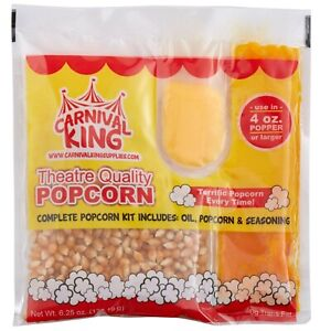 48 Case All-In-One Concession Stand Theaters Popcorn Kit for 4 oz. Popper