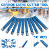 10Pcs 1/4'' Lathe Cutting Tool Set CNC Carbide Tip Turning Tool Sets Bit