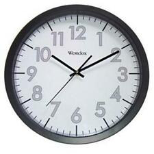 "Westclox 14"" Black Analog Indoor Wall Clock Second Hand Quartz USA Seller"
