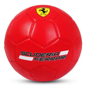 FERRARI Size 5 MACHINE SEWN SOCCER BALL - RED