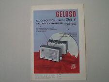 advertising Pubblicità 1960 RADIO GELOSO SERIE SIDERAL