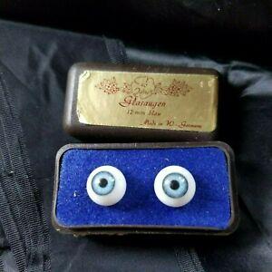 12mm Blue Glasaugen Doll Eyes
