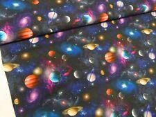 100% Cotton Digital Fabric Galaxy Space Planets Astrology Rainbow 150cm Wide
