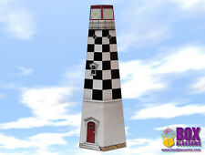 Checkered Lighthouse Gift Box - Wrapping Paper
