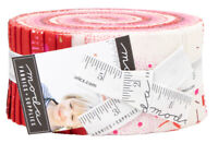 """Moda, Just Red, Jelly Roll, 2.5"""" Fabric Quilt Strips, 1700JR, J14"""