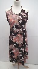 Brown Floral Halterneck Sundress from NEW LOOK SIZE 14