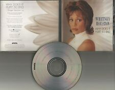 WHITNEY HOUSTON Why Does it hurt so bad RARE SINGLE VERSION PROMO DJ CD Single