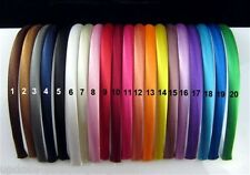 HAARREIF Satin  10mm schmaler Satin-Haarreif   24 verschiedene Farben zur Wahl