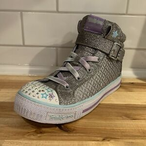 Skechers Shuffles Lights Twinkle Toes Charm 10819L Girls Youth Size 4 Shoes Hi