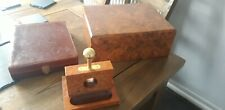 Cigar Humidor, Case and Guillotine Bundle, Vintage