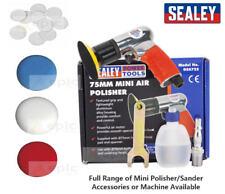 Sealey GSA722 75mm Mini Hook & Loop Air Polisher/Buffer or Buffing/Sanding Pads