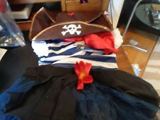 Pottery Barn Kids Halloween girl Pirate costume size 4 6  New