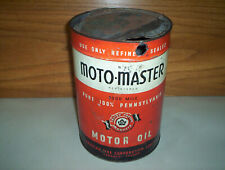 Vintage Canadian Tire Moto-Master 1 Imperial Gallon Oil Can Tin CTC Motomaster