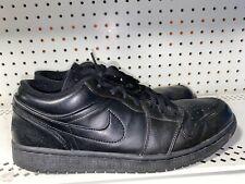Nike Air Jordan 1 Retro Low Mens Basketball Shoes Size 12 Triple Black