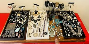 Statement Color Boho Jewelry Designer Lot Eclectic Crystal Estate Dramatic Mixed