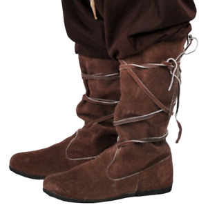 Great for LARP Cosplay Brown Suede Leather Shoes Women/'s Size 10 Medieval Fantasy Look and Ren Faire!