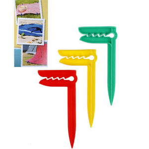 3PCS Beach Towel Clip Camping Mat Clip Outdoor Clothes Pegs For Sheet Holder: